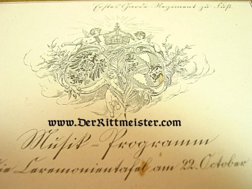 MUSIC PROGRAM - FUNCTION IN 1908 - Imperial German Military Antiques Sale