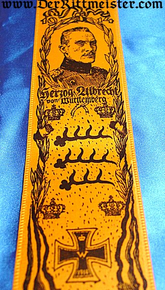 VIVAT RIBBON - HERZOG ALBRECHT - WÜRTTEMBERG - Imperial German Military Antiques Sale