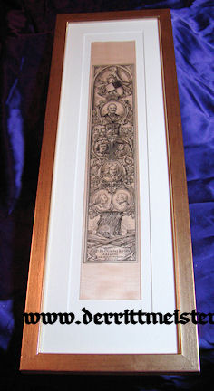 FRAMED VIVAT RIBBON - 400 YEARS - HOUSE HOHENZOLLERN - Imperial German Military Antiques Sale