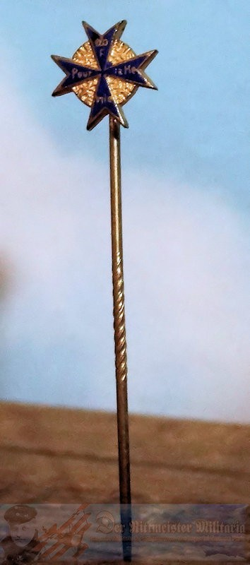 STICKPIN- ORDEN POUR le MÉRITE  - ORIGINAL PRESENTATION CASE - Imperial German Military Antiques Sale