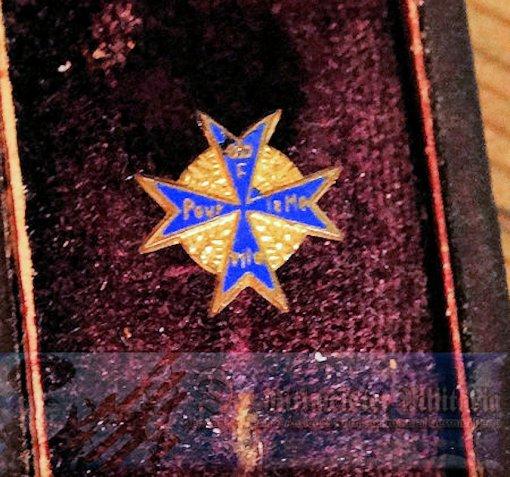 STICKPIN- ORDEN POUR le MÉRITE  - ORIGINAL PRESENTATION CASE - Imperial German Military Antiques Sale