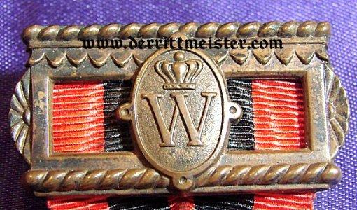 ANERKENNUNGSMEDAILLE der KÖNIG-KARL-JUBILÄUMS-STIFTUNG (ACKNOWLEDGMENT MEDAL of the KING KARL ANNIVERSARY FOUNDATION) KÖNIG WILHELM II 1893-1921 -WÜRTTEMBERG - ORIGINAL PRESENTATION CASE - Imperial German Military Antiques Sale
