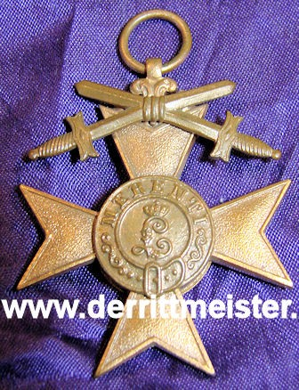 MILITARY MERIT CROSS 3rd CLASS WITH SWORDS WITH ORIGINAL PRESENTATION CASE - BAVARIA - Imperial German Military Antiques Sale
