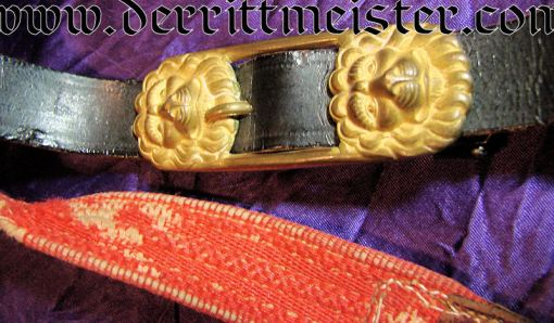 SWORD BELT AND HANGERS - Imperial German Military Antiques Sale