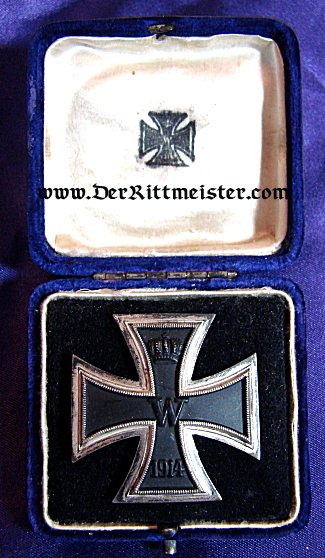 IRON CROSS - 1914 - 1st CLASS NON MAGNETIC - SPECIAL BLUE PRESENTATION CASE - Imperial German Military Antiques Sale