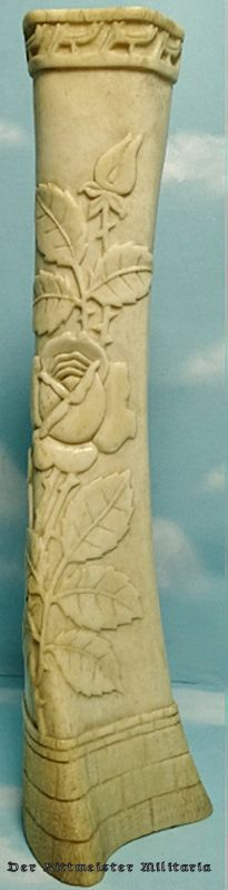 """HAND CARVED """"TRENCH ART"""" VASE - Imperial German Military Antiques Sale"""