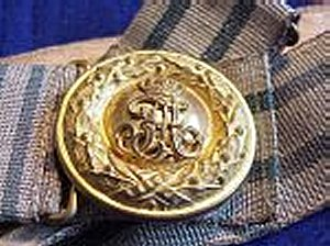 SAXONY - BROCADE BELT AND BUCKLE - OFFICER - Imperial German Military Antiques Sale