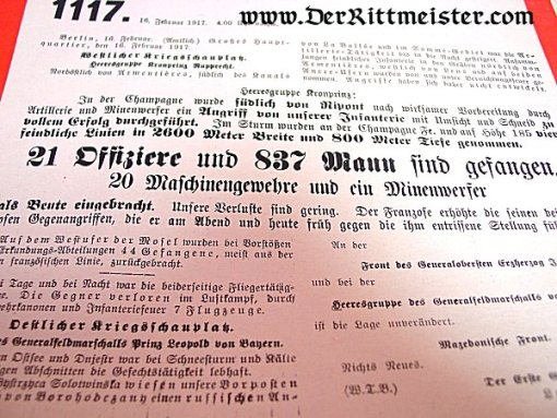 GERMANY - DISPATCHES - WARTIME - 1917 - Imperial German Military Antiques Sale