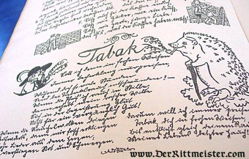 GERMANY - BOOKLET - DIE EINLAGSFLIEGE - Imperial German Military Antiques Sale