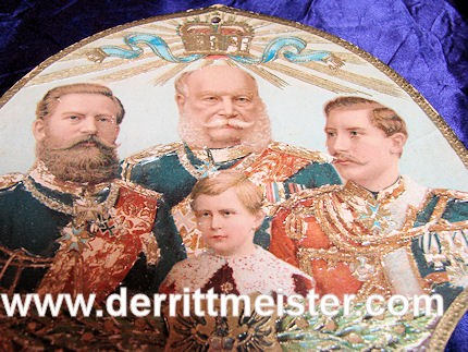 PRUSSIA - CALENDAR - FOUR KAISERS - YEAR 1889 - Imperial German Military Antiques Sale