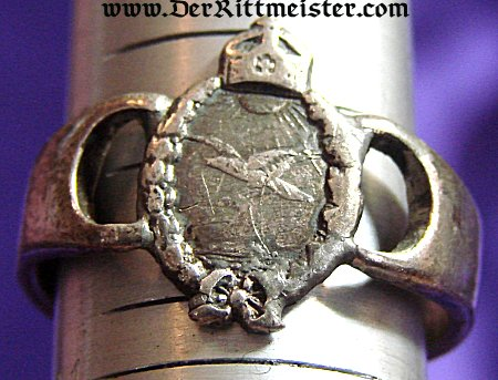 NAVY LAND PLANE PILOT'S BADGE RING - Imperial German Military Antiques Sale