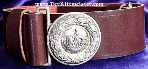 BAVARIA - BELT AND BUCKLE - OFFICER - Imperial German Military Antiques Sale