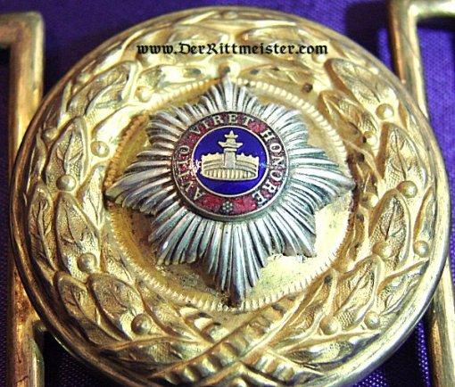 MECKLENBURG-STRELITZ - BELT BUCKLE - GENERAL OFFICER - Imperial German Military Antiques Sale