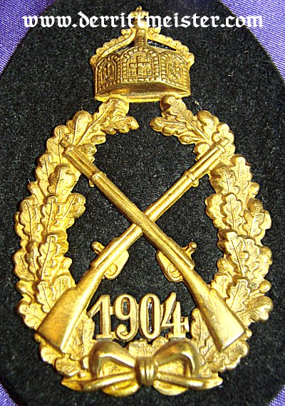 PRUSSIA - SHOOTING PRIZE - KAISER WILHELM II - 1904 - INFANTERIE-REGIMENT - Imperial German Military Antiques Sale