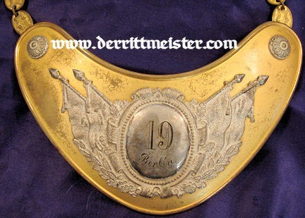 GERMANY - VETERANS GROUP FLAG BEARER'S GORGET - Imperial German Military Antiques Sale