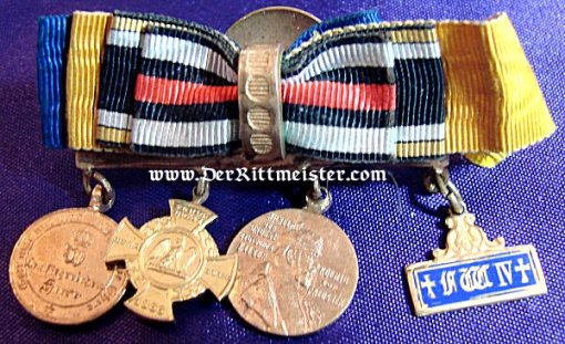 29-47FOUR-PLACE MINIATURE BOUTONNIERE - Imperial German Military Antiques Sale
