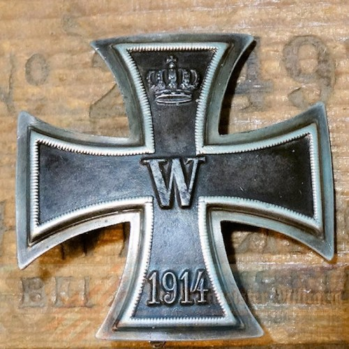 IRON CROSS - 1914 - 1st CLASS - HIGH VAULTED - .935 SILVER HALLMARK