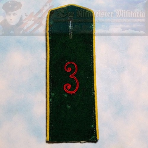PRUSSIA - SHOULDER STRAP - ENLISTED MAN/NCO - JÄGER ZU PFERDE REGIMENT NR 3