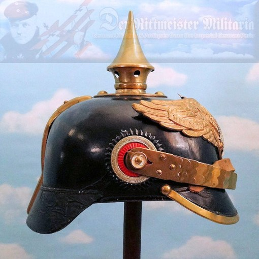 PRUSSIA - PICKELHAUBE - NCO - GARDE-GRENADIER-REGIMENT OR GARDE-REGIMENT ZU FUß - PRIVATELY-PURCHASED NOT DEPOT-ISSUED - Imperial German Military Antiques Sale