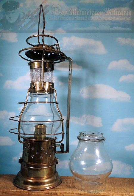SHIP'S MESSENGER LAMP - KAISERLICHE MARINE - Imperial German Military Antiques Sale