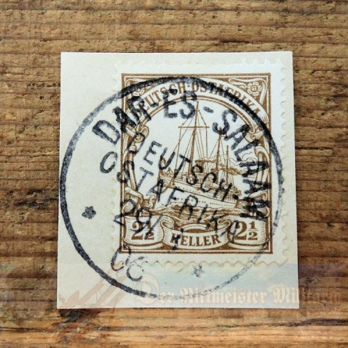 GERMANY EAST AFRICA - STAMP - 2 ½ HELLER - POSTMARKED DAR ES SALAAM - Imperial German Military Antiques Sale