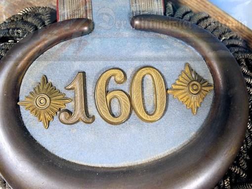 PRUSSIA - EPAULETTES - OBERST - INFANTERIE-REGIMENT NR 160 - Imperial German Military Antiques Sale