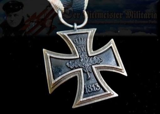 IRON CROSS - 1870 - 2nd CLASS - PRINZENGROßE WITH TWENTY-FIVE-YEAR JUBILEE OAK LEAVES - 1914 SPANGE - WAGNER & SÖHNE - Imperial German Military Antiques Sale
