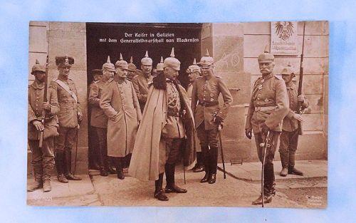 POSTCARD - KAISER WILHELM AND GENERALFELDMARSCHALL AUGUST VON MACKENSEN. - Imperial German Military Antiques Sale
