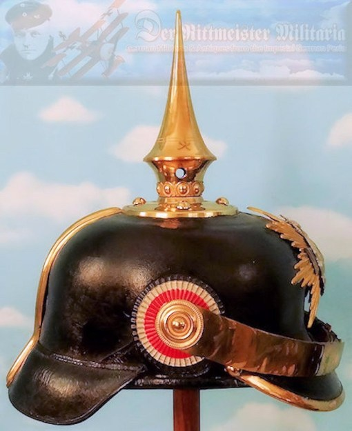 SAXONY - PICKELHAUBE - INFANTERIE - FÄHNRICH - Imperial German Military Antiques Sale