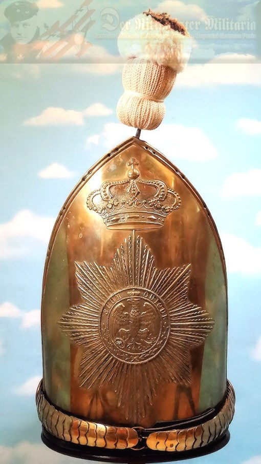 PRUSSIA - MITRE - NCO - MUSEUM COPY - PALACE GUARD - RUSSIAN-STYLE - SILVER-PLATED - Imperial German Military Antiques Sale