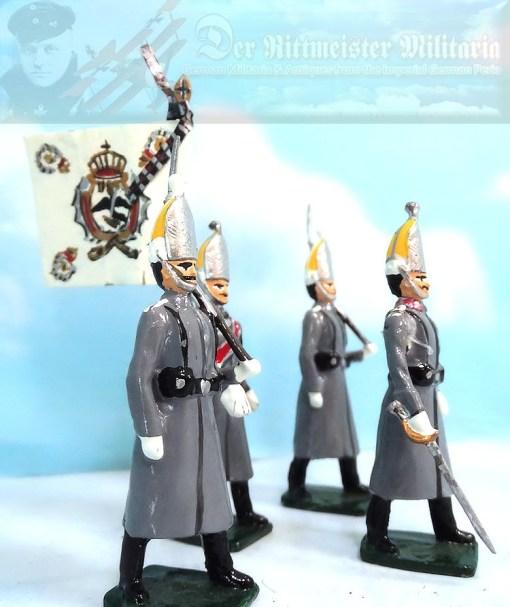 PRUSSIA - MITRE - ENLISTED MAN - ERSTE GARDE REGIMENT ZU FUß BATAILLON NR III - FRIEDRICH der GROßE-STYLE - Imperial German Military Antiques Sale
