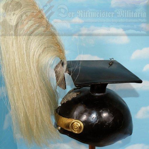 PRUSSIA - TSCHAPKA WITH BUSHFELDZEICHEN AND FANGSCHNUR IN ORIGINAL STORAGE CARTON - OFFICER - Imperial German Military Antiques Sale