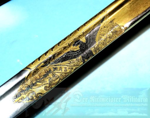 PRUSSIA - DAMASCUS COURT DEGEN - ATTRIBUTED TO PRINZ HEINRICH - Imperial German Military Antiques Sale