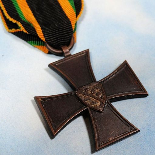 SAXE-COBURG UND GOTHA - WAR HONOR SERVICE BADGE - 2nd CLASS - Imperial German Military Antiques Sale