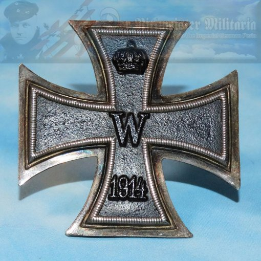 IRON CROSS - 1914 - 1st CLASS - PRIVATELY-PURCHASED - NON-VAULTED - .800 SILVER