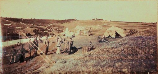 PRUSSIA - PHOTOGRAPH - BALLOON DETACHMENT WITH ANTI AIRCRAFT CANNONS