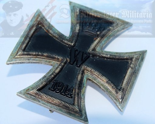 GERMANY - IRON CROSS - 1914 - 1st CLASS - NON VAULTED - Imperial German Military Antiques Sale
