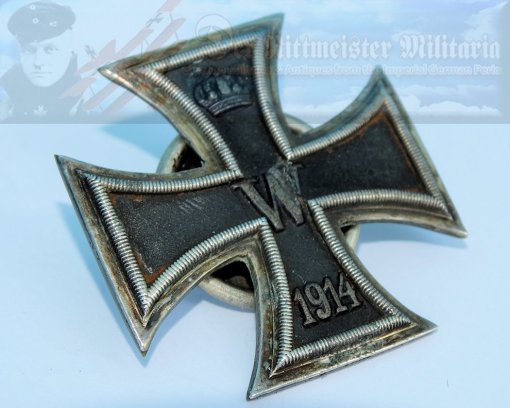 GERMANY - IRON CROSS - 1914 - 1ST CLASS - TWO-PIECE SCREWBACK - Imperial German Military Antiques Sale