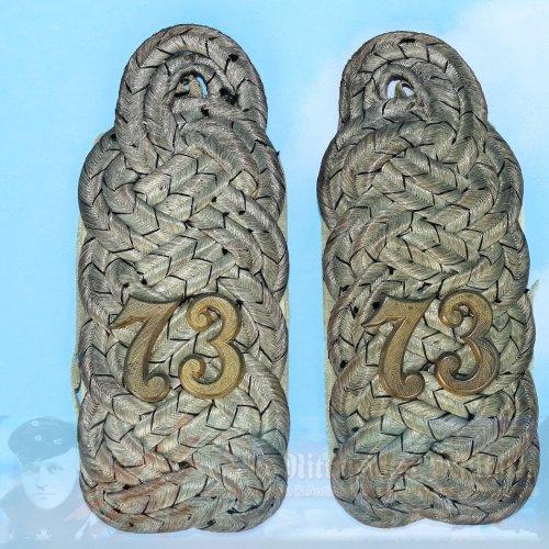PRUSSIA / HANOVER - SHOULDER BOARDS - MAJOR - INFANTERIE-REGIMENT NR 73