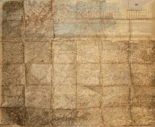 GERMANY - ARMY MILITARY MAP - CAMBRAI-LAON-ROCROI - Imperial German Military Antiques Sale