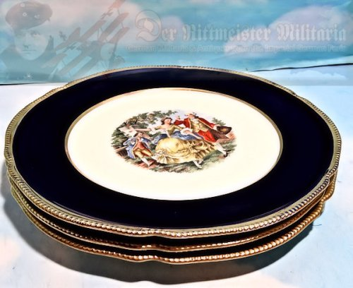 GERMANY - PLATES (SET OF 3) - VICTORIAN ERA MOTIF - Imperial German Military Antiques Sale