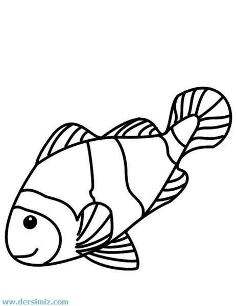 balıklar boyama kağıtları resimleri