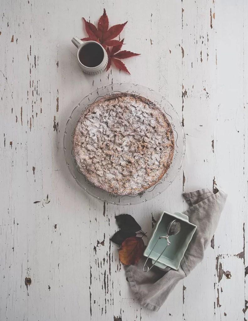Sbriciolata alla ricotta e caffè con crema di marroni