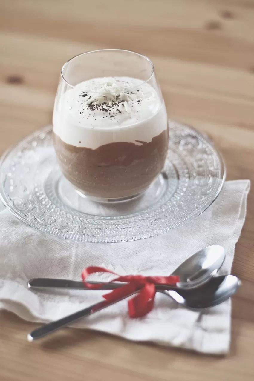 Mousse fondente al caffè con spuma al mascarpone e cioccolato bianco