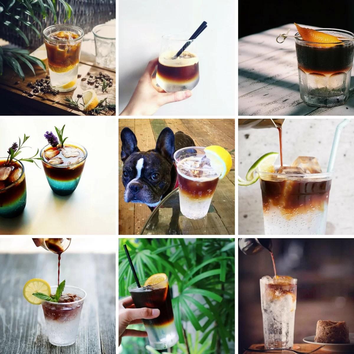 come servire l'espresso tonic - ispirazioni da instagram