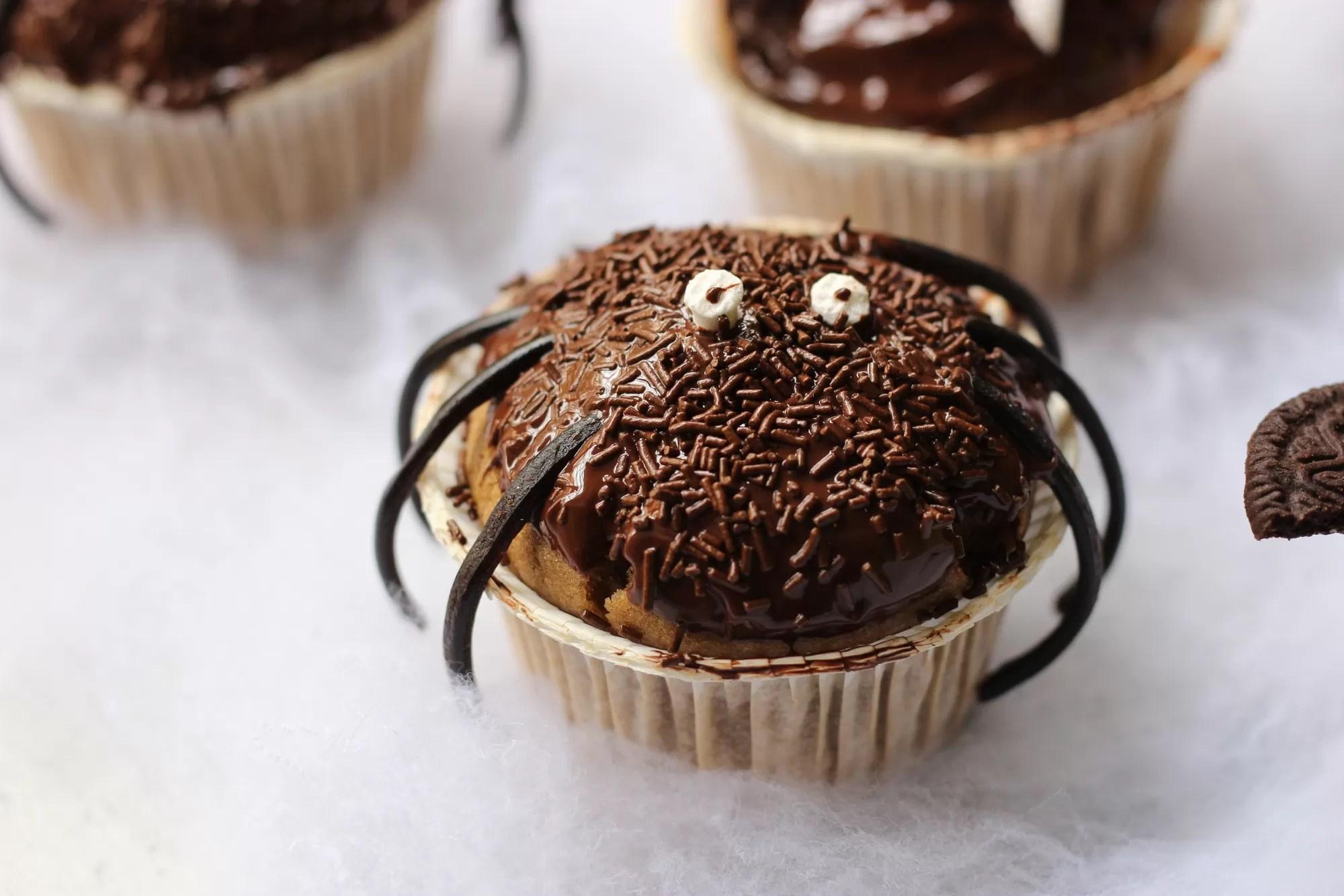 Cupcake ragno di halloween