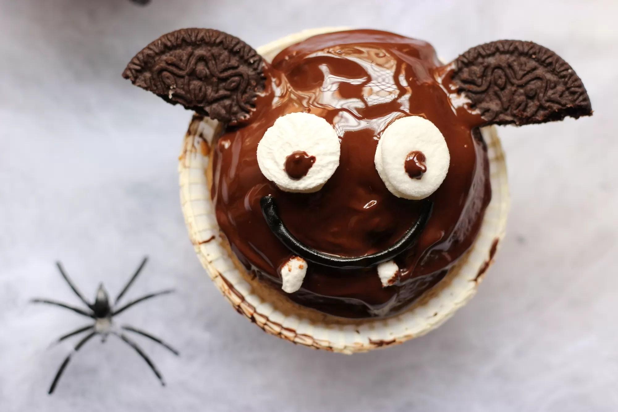 Muffin pipistrello di halloween