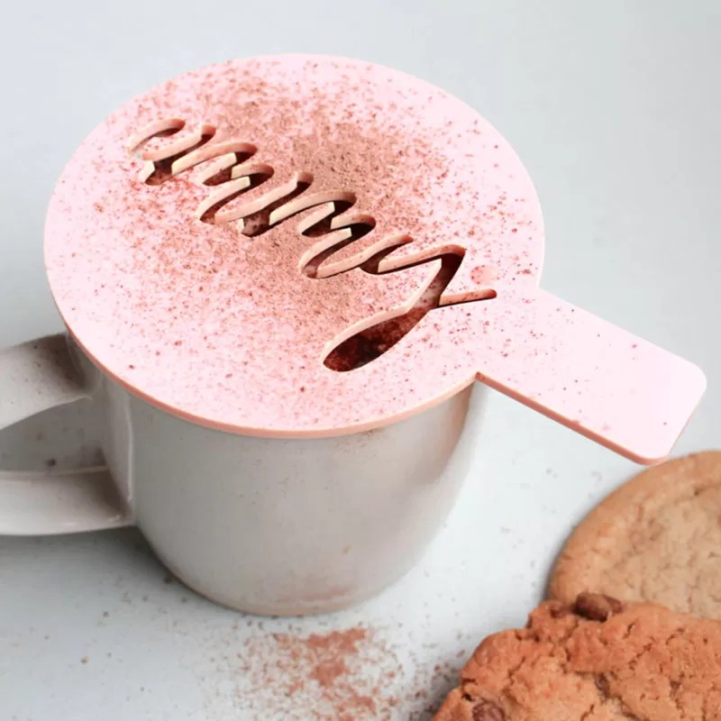 Natale 2017 - Idee regalo per amanti del caffè - Stencil per latte art