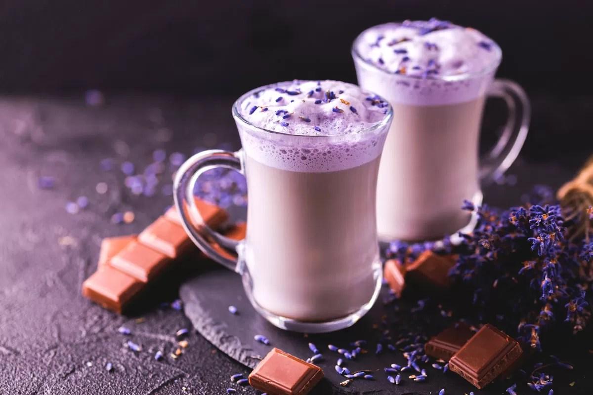 tendenze food 2018 - lavander latte e cioccolato