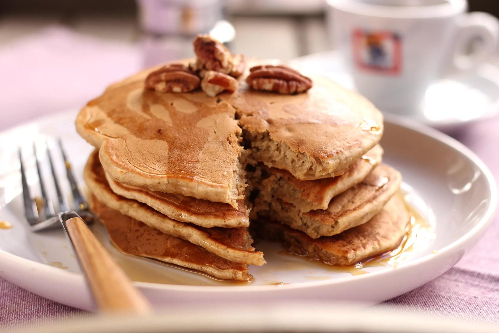 pancake alla banana - come riciclare il caffè avanzato